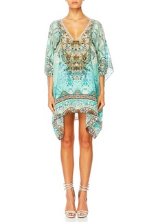 Camilla The Long Way Home Printed Embellished Caftan Coverup