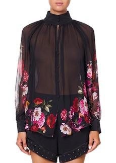 Camilla Then, Now, Ever After Raglan Button-Up Sheer Shirt