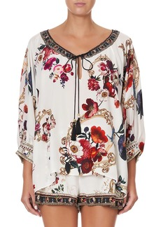 Camilla Then, Now, Ever After Raglan-Sleeve Blouse