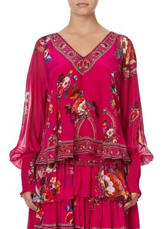 Camilla Then, Now, Ever After Shirred Cuff Blouse