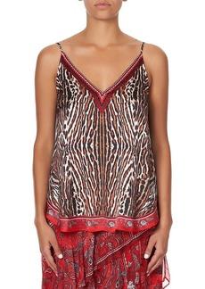 Camilla V-Neck Printed Silk Camisole