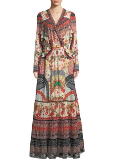 Camilla Vintage Vixen Cross-Front Maxi Dress