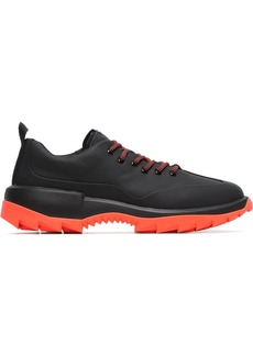 Camper black and orange Helix leather low-top sneakers