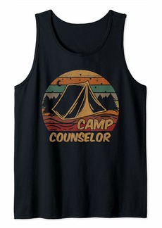 Camp Counselor Camping Lovers Gifts Happy Camper Tank Top