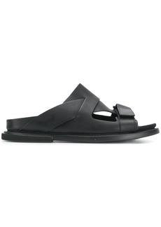 Camper asymmetric strappy Edo sandals - Black