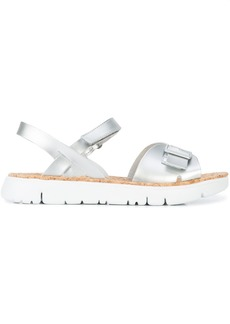 Camper buckled toe strap sandals - Metallic