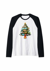 Camper Christmas Tree Vehicles Camping RVing Trailers Gift Raglan Baseball Tee