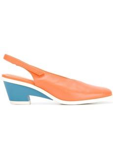 Camper contrast heel pumps - Yellow & Orange