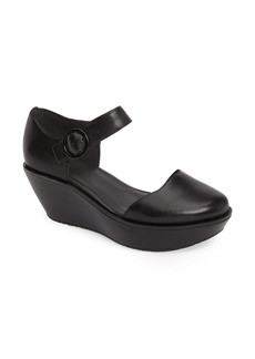 Camper 'Damas' Leather Ankle Strap Wedge Sandal (Women)