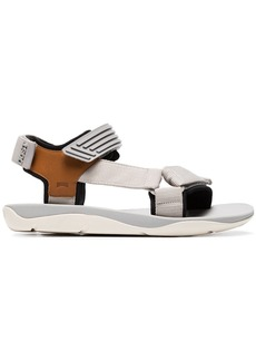Camper x Dust Magazine grey and brown rubber sandals