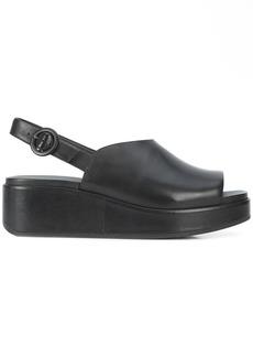 Camper slingback platform sandals - Black