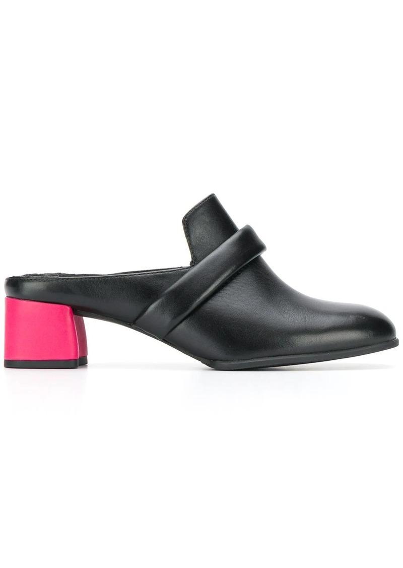 Camper contrast block heel loafers