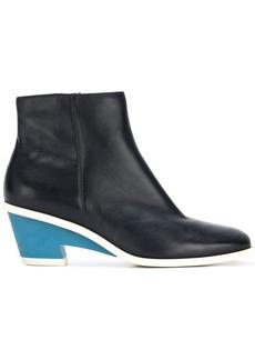 Camper contrast heel boots