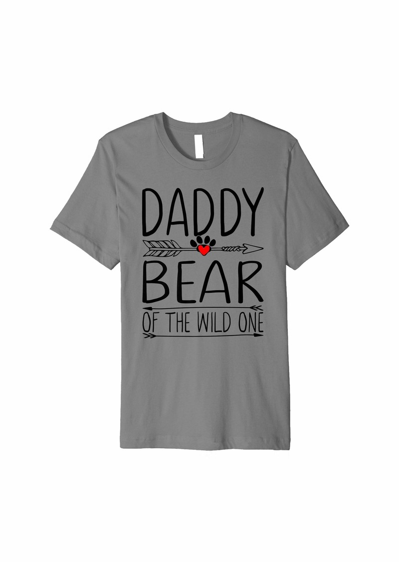 Daddy Bear Fathers Day Gifts for Camping Camper Father Premium T-Shirt