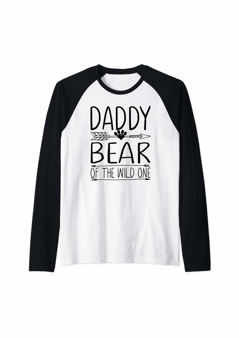 Camper Daddy Bear Raglan Baseball Tee