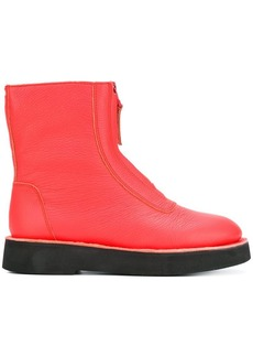 Camper front zip ankle boots