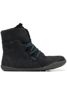 Camper fuzzy ankle boots