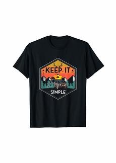 Camper Keep It Simple Suv Camping Retro Vintage T-Shirt