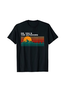 Me You & the Outdoors Camper Lovers Camp Love Birds Travel T-Shirt