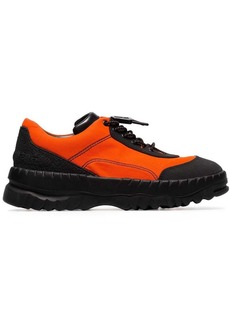 Camper Orange X Kiko Kostadinov leather trim low-top sneakers