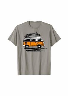 Surf van graphic surfer vintage retro distressed camper van T-Shirt