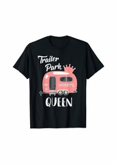 Camper Trailer Park Queen Funny Girl RV Camping T Shirt