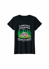 Camper Womens Camping Grandma Forest Hiking T-Shirt