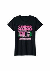 Camper Womens Camping Grandma Forest Hiking T-Shirt