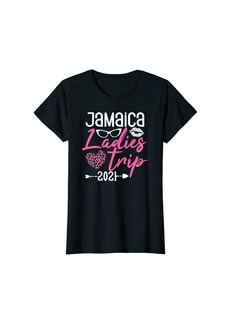 Womens Ladies Trip Jamaica Family Camper Road Trip Vacation Girls T-Shirt