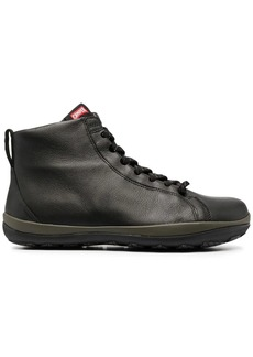 Camper zip-up leather trainers