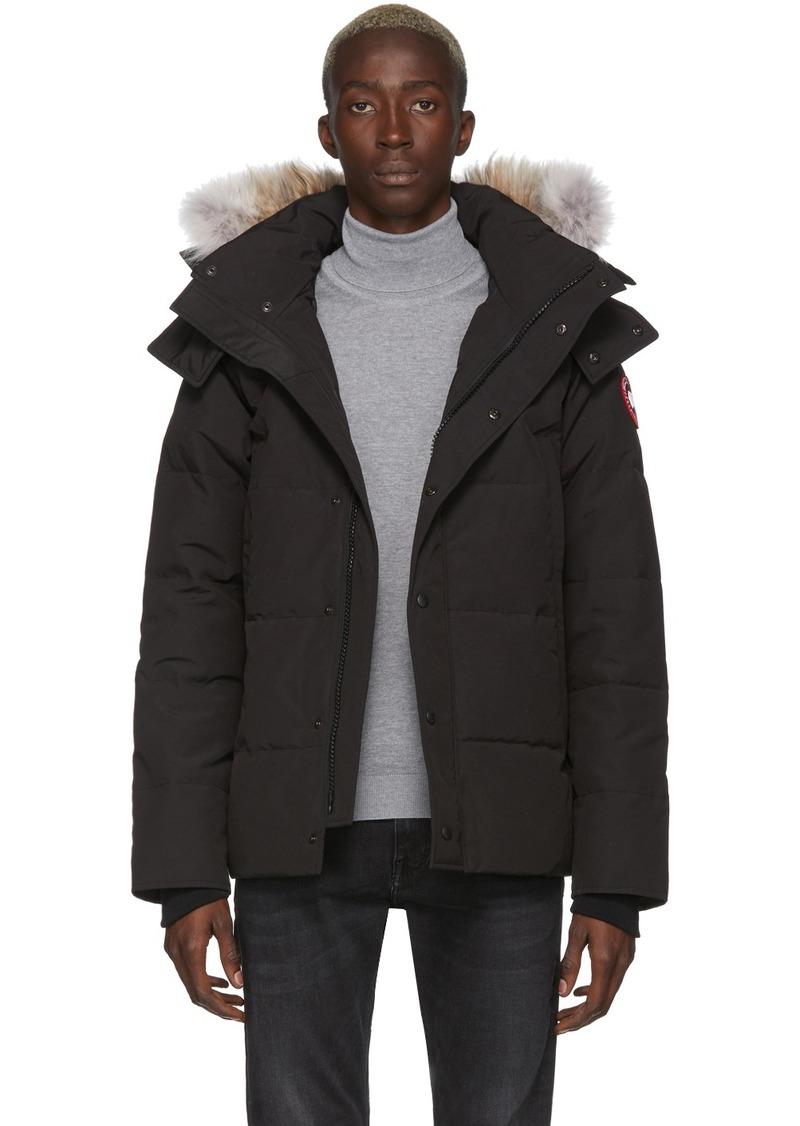 Canada Goose Black Down Wyndham Jacket