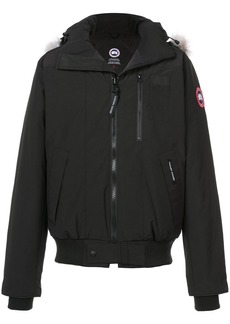 Canada Goose appliqué hooded jacket