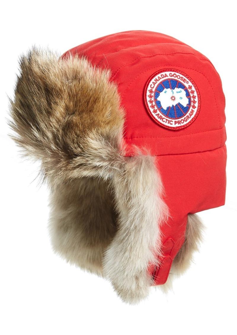 Canada Goose Canada Goose Aviator Hat With Genuine Coyote