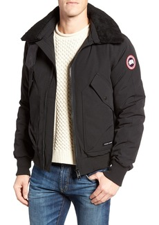 Canada Goose Bromley Down Bomber Jacket with Genuine Shearling Collar