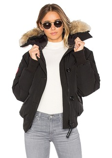 Canada Goose Chilliwack Bomber with Coyote Fur in Black. - size L (also in XS,S,M)