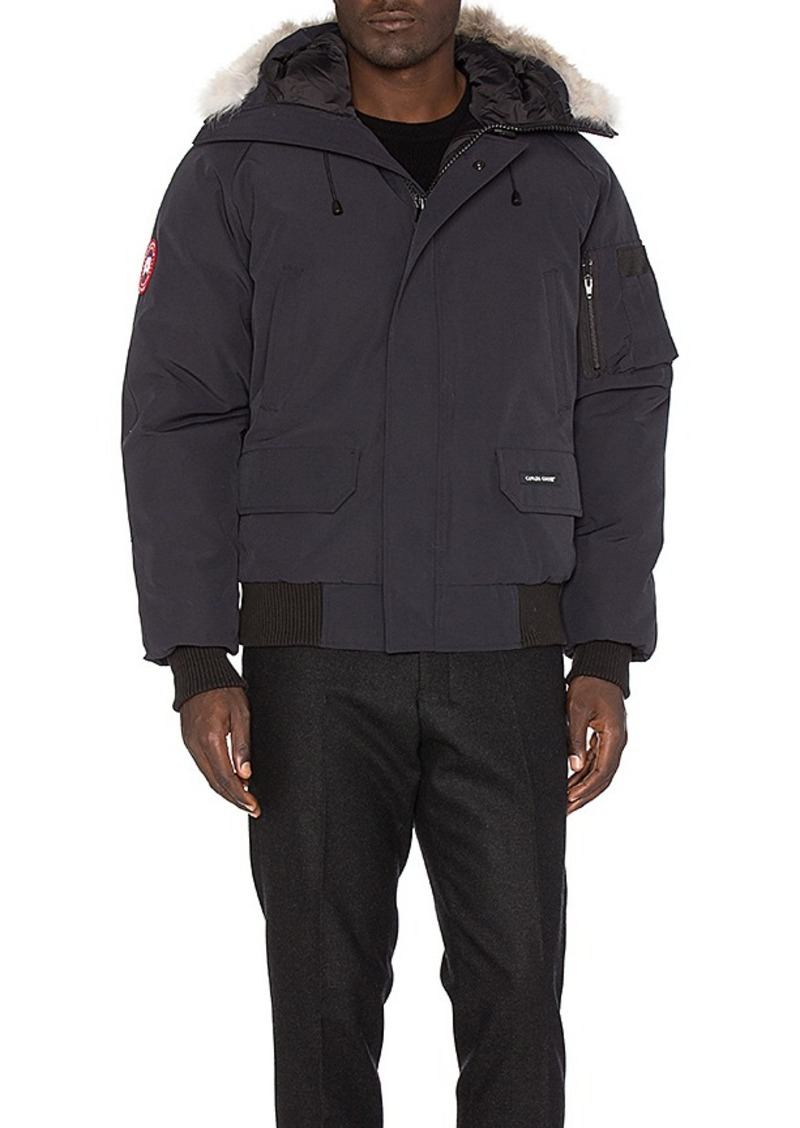 Chilliwack Bomber with Coyote Fur in Navy. size L (also in M,XL)