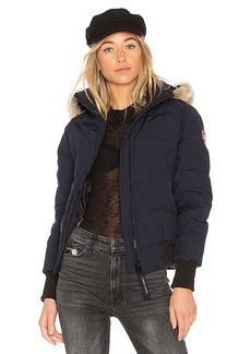 Canada Goose Coyote Fur Savona Bomber in Navy. - size L (also in XS,S,M)