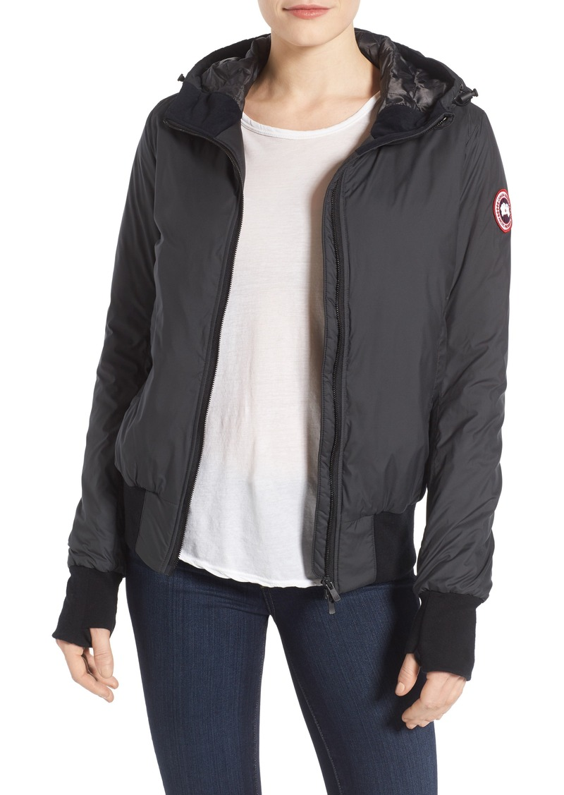 canada goose dore hooded shell down jacket
