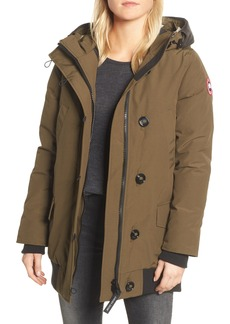Canada Goose Finnegan 625-Fill Power Down Parka with Genuine Shearling Hood Lining
