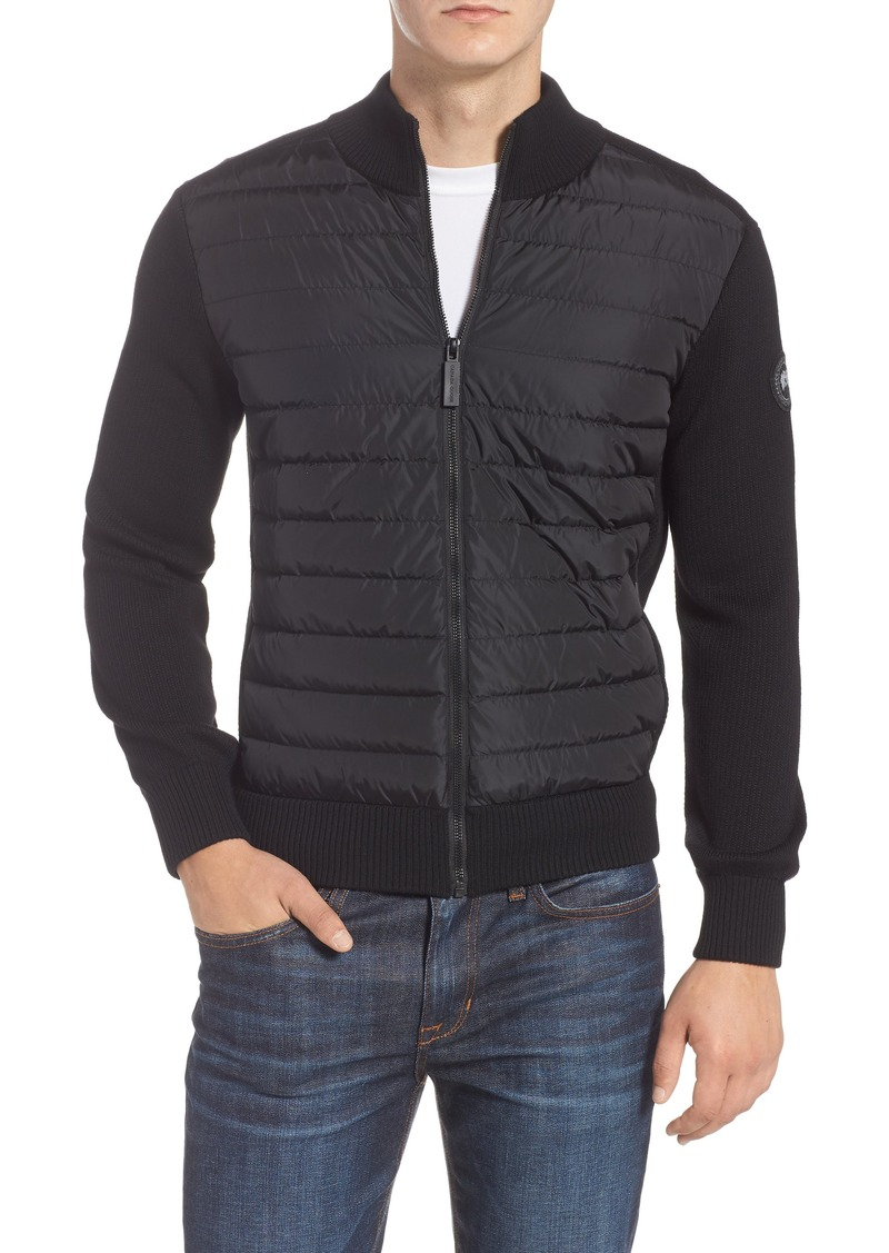 Canada Goose Hybridge Slim Fit Down Front Knit Jacket