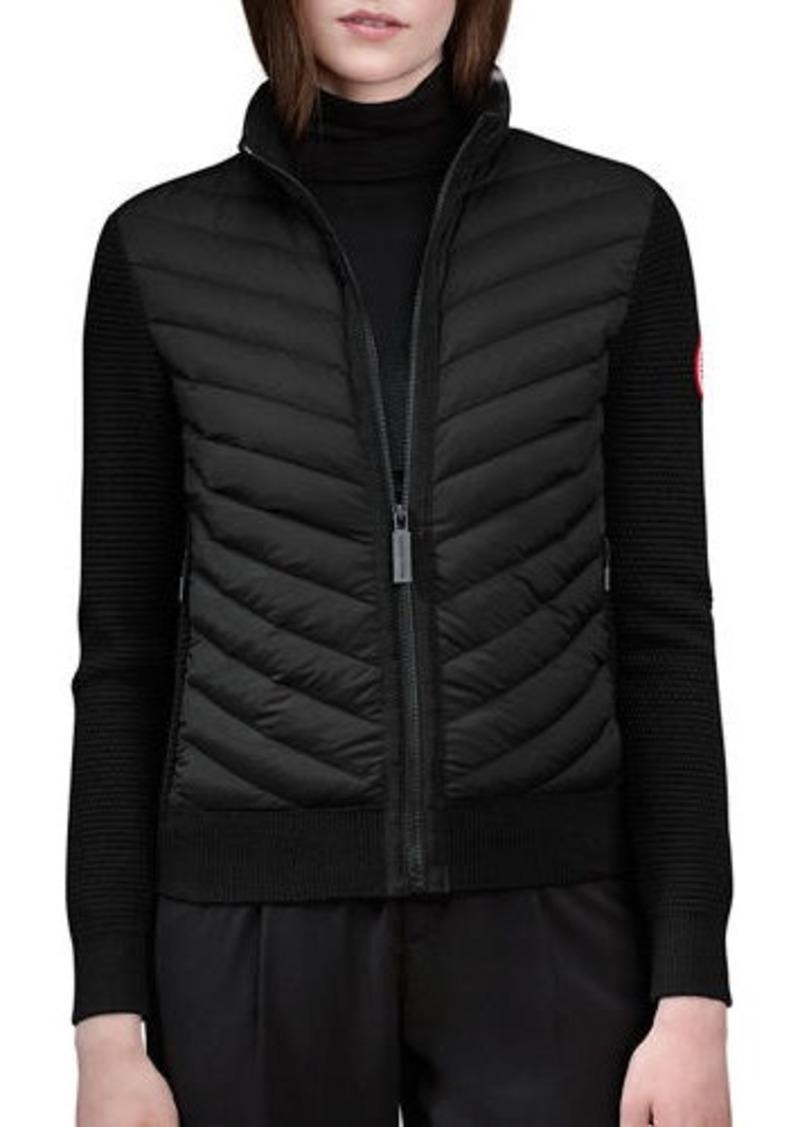 Canada Goose Hybridge Knit Puffer-Front Jacket