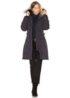 Canada Goose Kensington Parka with Coyote Fur Trim in Navy. - size L (also in XS,S,M)