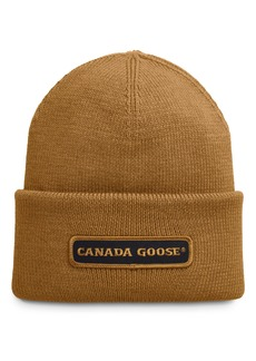 Canada Goose Logo Patch Ribbed Beanie
