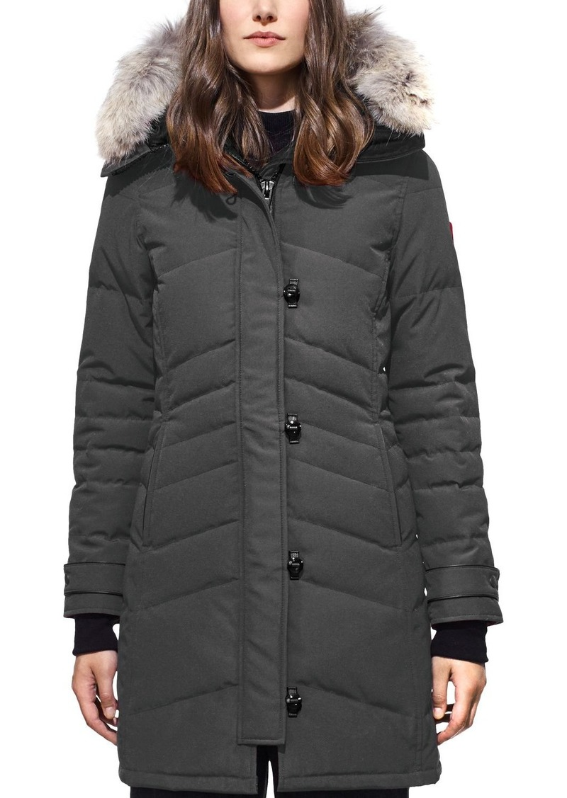 Canada Goose Lorette Coyote Fur Trim Down Coat
