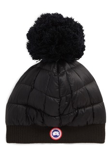 Canada Goose Quilted Down Pom Beanie
