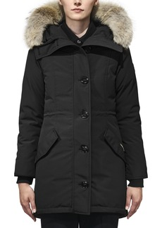 Canada Goose Rossclair Fusion Fit Genuine Coyote Fur Trim Down Parka