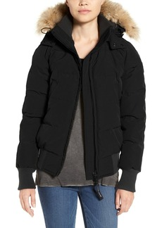 Canada Goose 'Savona' Bomber Jacket with Genuine Coyote Fur Trim