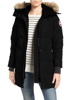 Canada Goose Shelburne Slim Fit Genuine Coyote Fur Trim Down Parka