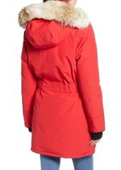 Canada Goose Trillium Regular Fit Down Parka with Genuine Coyote Fur Trim