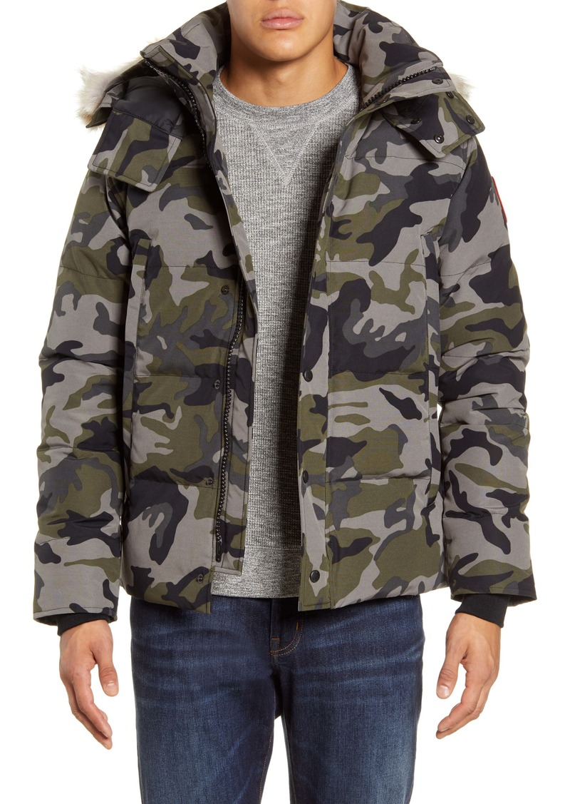 Canada Goose Wyndham Fusion Fit 625 Fill Power Down Jacket with Genuine Coyote Fur Trim